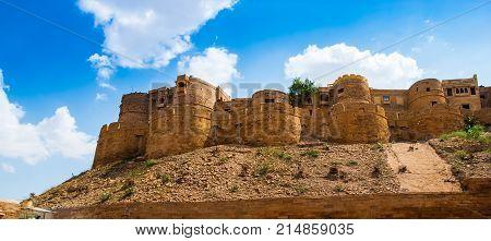 Jaisalmer Fort in Jaisalmer Rajasthan India. Jaisalmer is a very popular tourist destination in Rajasthan.