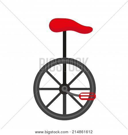Unicycle circus icon for flat style , isolated on white background. Vector illustration