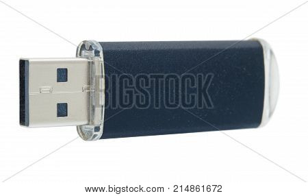 USB flash memory isolated on a white background