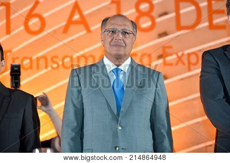 Sao Paulo Brazil - november 16 2017: Governor of the State of Sao Paulo during opening ceremony of Congress