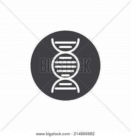 DNA molecule icon vector, filled flat sign, solid pictogram isolated on white. Deoxyribonucleic acid symbol, logo illustration.