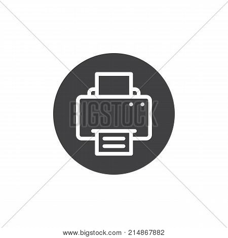 Printer icon vector, filled flat sign, solid pictogram isolated on white. Fax print documents symbol, logo illustration.