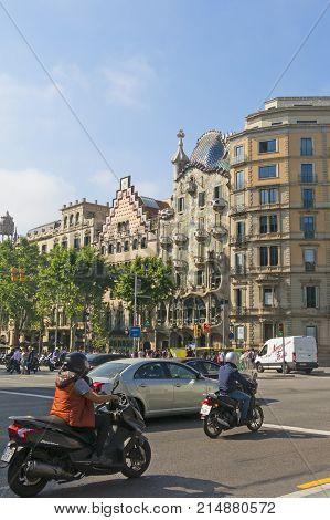 Casa Batllo And Casa Ametller, Famous Modernist Architecture Of Barcelona