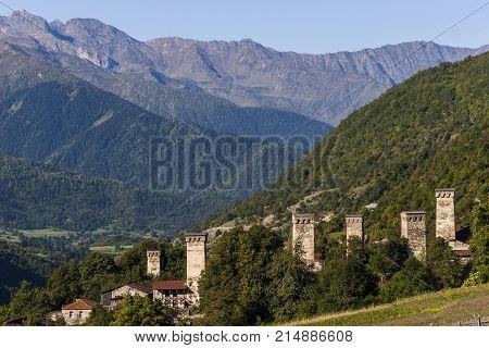 Towers of Svaneti, unique defensive structures in Mestia, Georgia