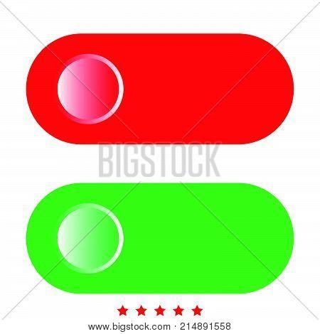Toggle Switch Icon .  Flat Style