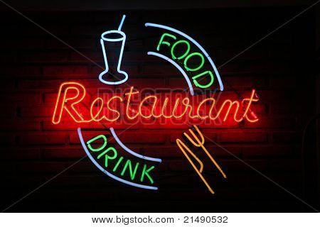 Restaurant Food Drink Neon Sign