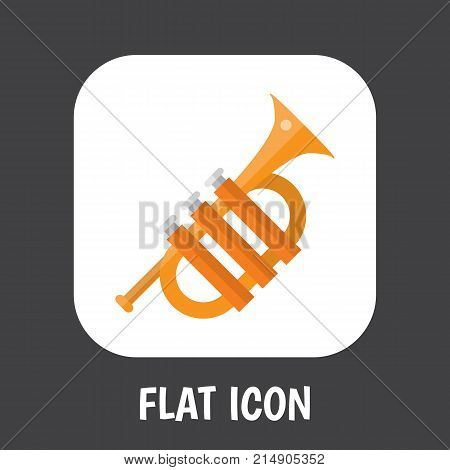 Vector Illustration Of Melody Symbol On Alt Flat Icon