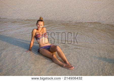 Young Woman On Koh Larn