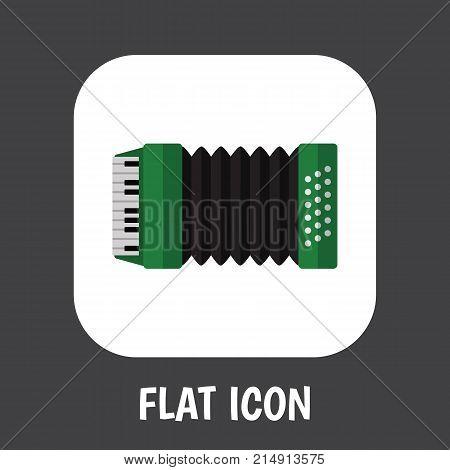 Vector Illustration Of Audio Symbol On Harmonic Flat Icon