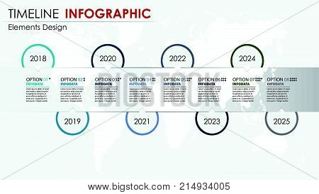 Vector abstract element timeline infographics. Design for business or finance template layout brochure workflow information or presentation and other. Can add infodata and icon. Abstract 3D vector.