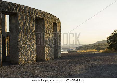 The (not AS famous) Stonehenge WWI Memorial located near Maryhill in Klickitat County, Washington.