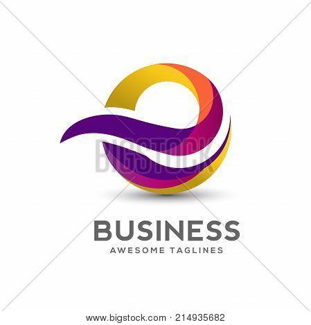 Letter E Colorful Logo Design Vector. Creative letter E Rainbow Gradient logo concept Illustration.