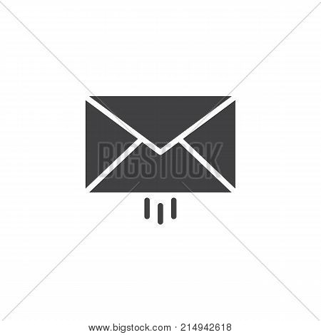 Message delivery icon vector, filled flat sign, solid pictogram isolated on white. Outgoing mail symbol, logo illustration.