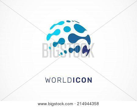 Logo set - technology, biotechnology, tech icon and symbol