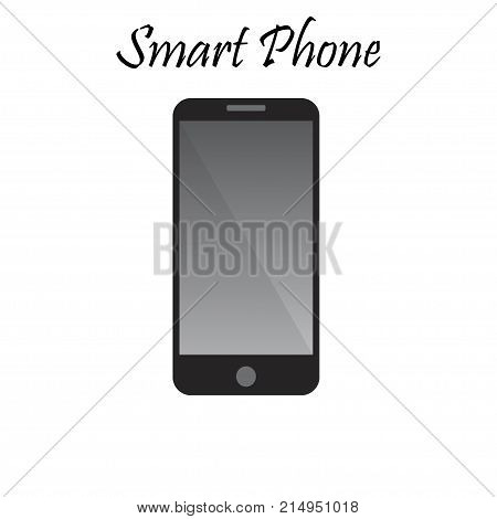 Vector illustration of Smart Phone With Blank Screen. High quality mobile phone illustration. Cellphone or communicator. Gadget collection