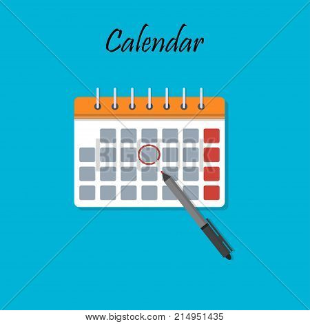 Illustration of Isolated Cartoon Calendar with important date. Great design for icons or app symbol