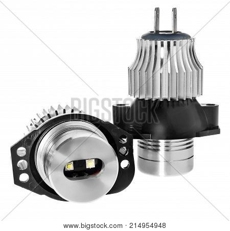 Light Led Bulbs For Car Lamps. Car Led For Halo Rings And Angel Eyes Lighting Effect.