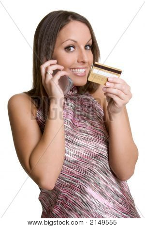 Credit Card Phone Woman