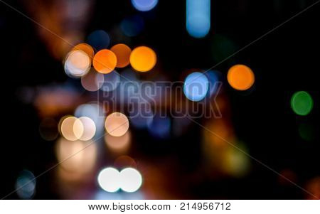 Blurred Of City Night Traffic Background Or Wallpaper