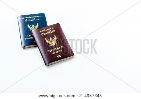 Passport From Thailand On The Background