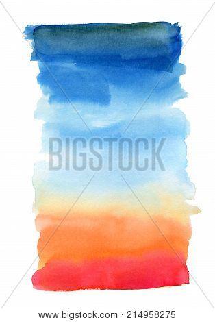 Rainbow Vivid Watercolor Background