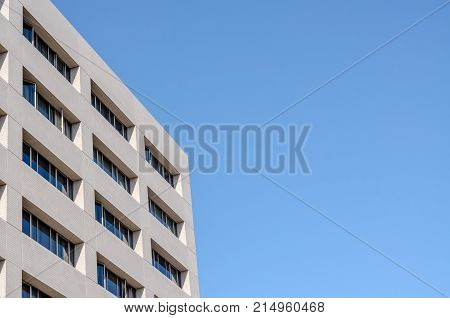 New Office Building And Blue Sky Background