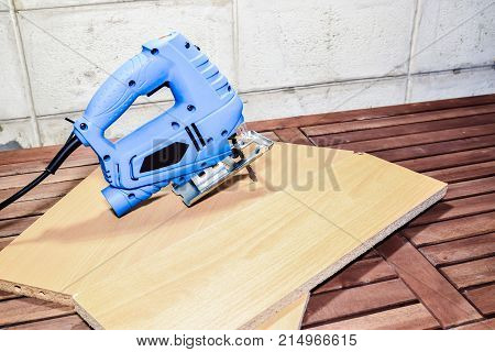 Jig saw is a hand-held electric saw to use for cutting shapes in a variety of materials (depend on right blade)