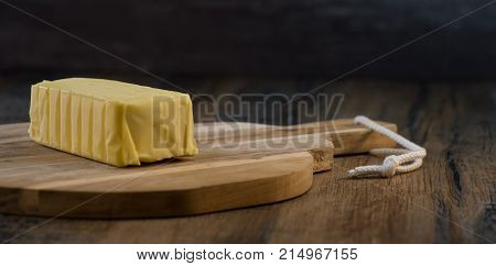 Plate Of Butter Wrapping Ready To Eat