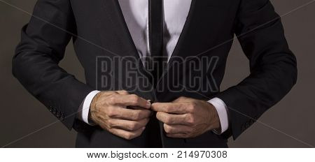 Close Up Of A Gentleman In Business Attire.studio Shot