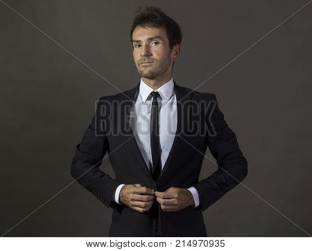 Portrait Of A A Handsome Gentleman In Business Attire.