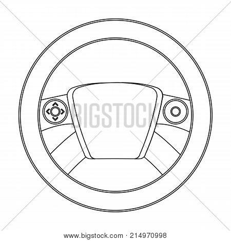 Steering wheel single icon in outline style for design.Car maintenance station vector symbol stock illustration .
