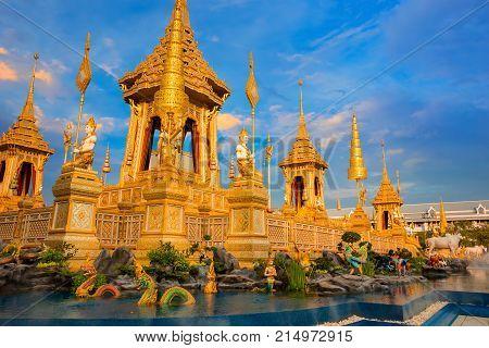Bangkok, Thailand - November 15 2017: The Royal Crematorium Of His Majesty Late King Bhumibol Adulya