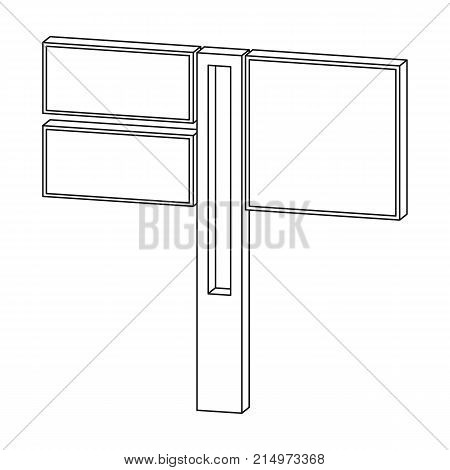 Sign single icon in outline style.Sign vector symbol stock illustration .