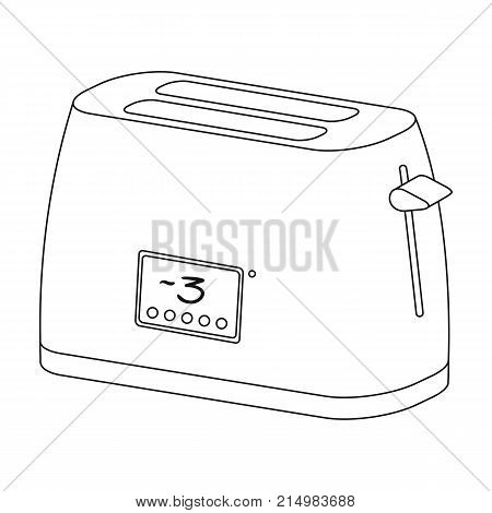 Toaster, single icon in outline style.Toaster, vector symbol stock illustration .