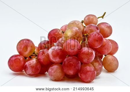 Food for health,Red seedless grapes,The red grape seeds and galling.Red grapes without seed, fresh fruit concept, close up red grapes