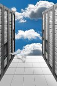 A Conceptual vision of a Datacenter on the cloud (Cloud Computing) poster