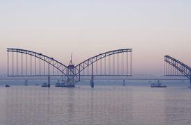 Bridge across Irrawady river (Myanmar)