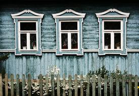 Decorative windows in Suzdal (Russia)
