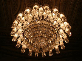 Chandelier in Dolmabahce Palace, Istanbul (Turkey)