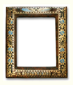 Egyptian frame isolated on white