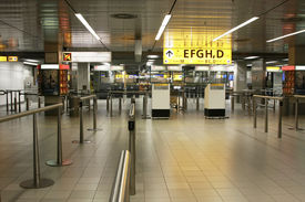The check-in area at Amsterdam's Schiphol Airport