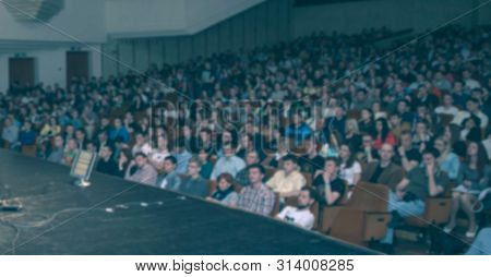 Audience In The Big Hall Of The Business Center