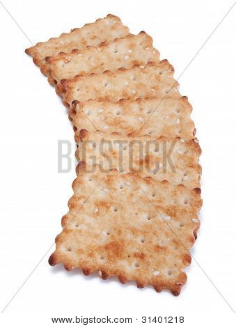 A Well Placed Stack Of Crackers