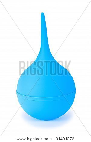 A Blue Medical Suction Bulb
