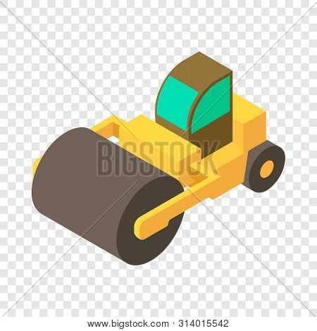 Road Roller Icon. Isometric Illustration Of Road Roller Vector Icon For Web