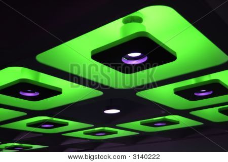 Green Decorative Funky Coloured Indoor Ceiling Lights