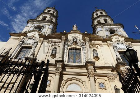 Montevideo/uruguay-6/1/19: Montevideo Metropolitan Cathedral Is The Main Roman Catholic Church Of Mo