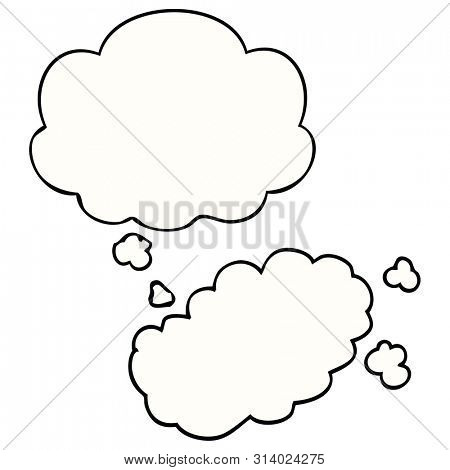 cartoon puff of smoke with thought bubble