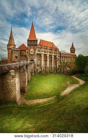 Old Gothic-renaissance Castle In Transylvania, Hunedoara, Romania