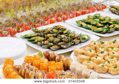 A Buffet Table
